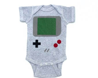 Video Game Shirt, Baby Geekery, Nerdy Baby Gifts, 80s kid, Newborn Photo Prop, Funny Baby Present, Baby Boy Clothes, Baby Halloween Costume