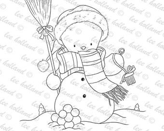 Cute Snowman digi