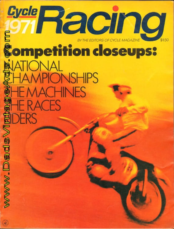 1971 Cycle Racing Motorcycle Magazine Back-Issue #7101raccyc