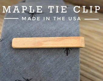 Wooden Tie Clip - Wedding Tie Clips - Groomsmen Gift - Gifts for Men - hand crafted in the USA- Gifts for him