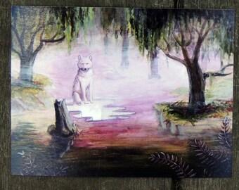 Surreal Dissolution White Wolf Werewolves of Creation Postcard