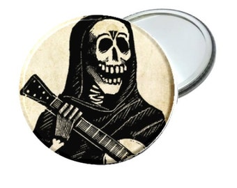 Mirror - Day of the Dead Guitar Skeleton Man image 2.25""