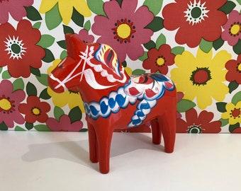 Vintage Dala Horse Red  Nils Olsson Swedish Hand Painted