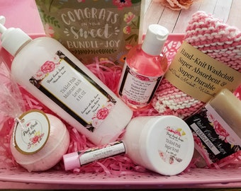 New Mom Gift Basket | Tickled Pink Gift Basket | Bath and Body Gift Basket | Pink Gift Basket | Present for Mom | Paint Creek Soaps