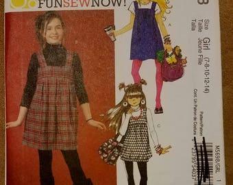 McCall's 5698 - Girls' Jumper Pattern - Easy - Sizes 7, 8, 10, 12, and 14 - Children's Jumper Pattern