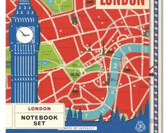Large Vintage London Notebook Set