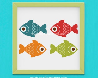 Clipart - Fishing / Fish / Camping Clipart (Single Clipart Image) - Digital Clip Art (Instant Download)