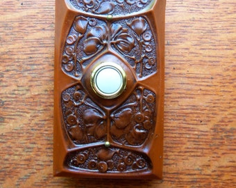 "New Craftsman ""Gingko"" Arts & Crafts Doorbell Button"