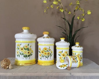 Vintage Canister Set / Apothecary Jar Set / Apothecary Jars / Canister Set / Countertop Canisters / Canisters / Apothecary