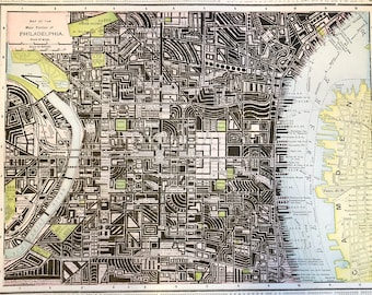 Abstract Drawing on Historic Map - Philadelphia