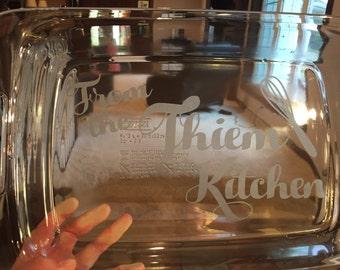 Personalized Kickasserole 9x13 Pyrex Baking Dish
