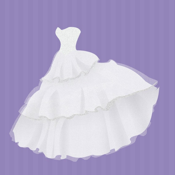 Commercial Use Instant Download Wedding Dresses clip art PNG images ...