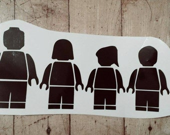 Lego Family car decal-stick figure family