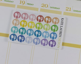 Meal Planning Stickers for Erin Condren Life Planner, Dinner Stickers, Meal Stickers, Food Stickers