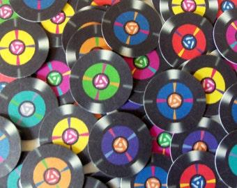 45 record confetti, 7 inch vinyl record confetti, music confetti, 70's party, 80's party, record confetti, 45 record, record party