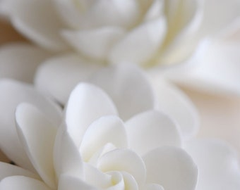 Made to Order - Couture Clay - Double Gardenia Hair Flowers Set of 2