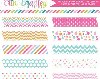 80% OFF SALE Pink Blue Orange Digital Washi Tape Frame Clipart Personal & Commercial Use Clip Art Graphics Text Frames Instant Download