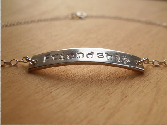 Silver Anklet With Stamped Name - Sterling Silver
