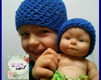 Dolly and me hats, matching toddler and doll hats, matchy, cute, toddler hats, doll accessories, toddler gift, gift for kid, ready to ship