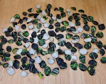 Green camo petals