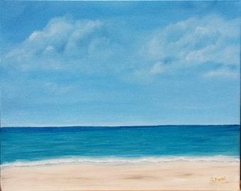 16 x 20 Original Oil Painting - Beach Painting - Seascape - Sea  - 16 x 20
