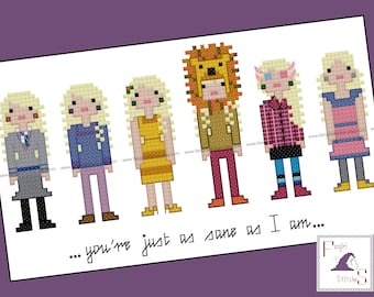 Harry Potter parody - Luna Lovegood Cross Stitch pattern - Instant Download PDF