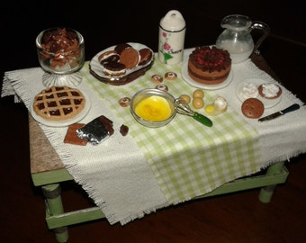 """Miniature Dolls House in scale 1:12 """"prepare the sweets!"""""""