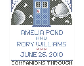 Dr Who Wedding Sampler