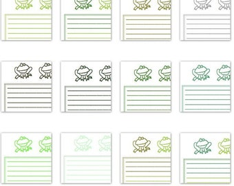 INSTANT DOWNLOAD Froggie 14 page Paper Pack