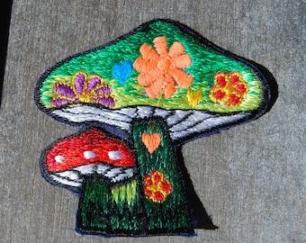 Patch Mushrooms Sew on Applique