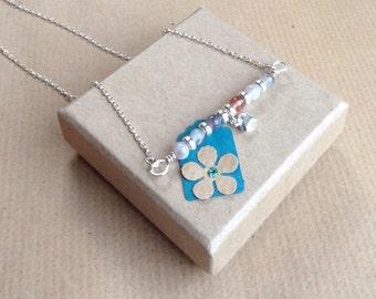 Bar Necklace, Agate Bar necklace, Gemstone bar necklace, sterling silver bar necklace, Sterling Silver Necklace