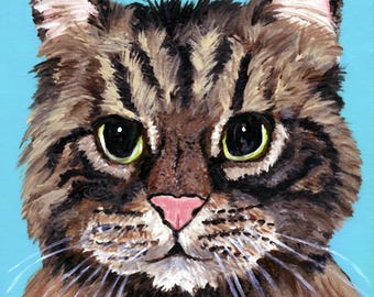 custom cat portrait for birthday gift for loss of cat memorial gift custom cat painting from a photo unique gift cat owner sympathy
