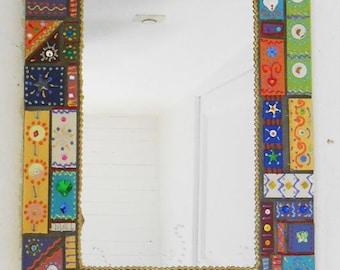 "Mosaic mirror ""Samba"" 53 x 36 cm"