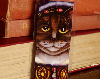 King Henry VIII Cat Bookmark, Tudor Cats, Laminated Paper Bookmark