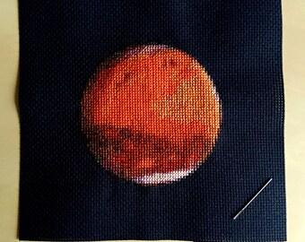 Mars Cross Stitch Pattern Instant Download PDF