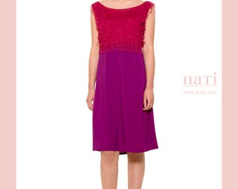 Purple coctail dress pretty haute couture beautiful