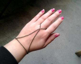 Harness Slave Bracelet Antique Brass Hand Chain Boho Slave Bracelet Ring Harness Bracelet Hipster Jewelry Bohemian Hand Chain Bracelet