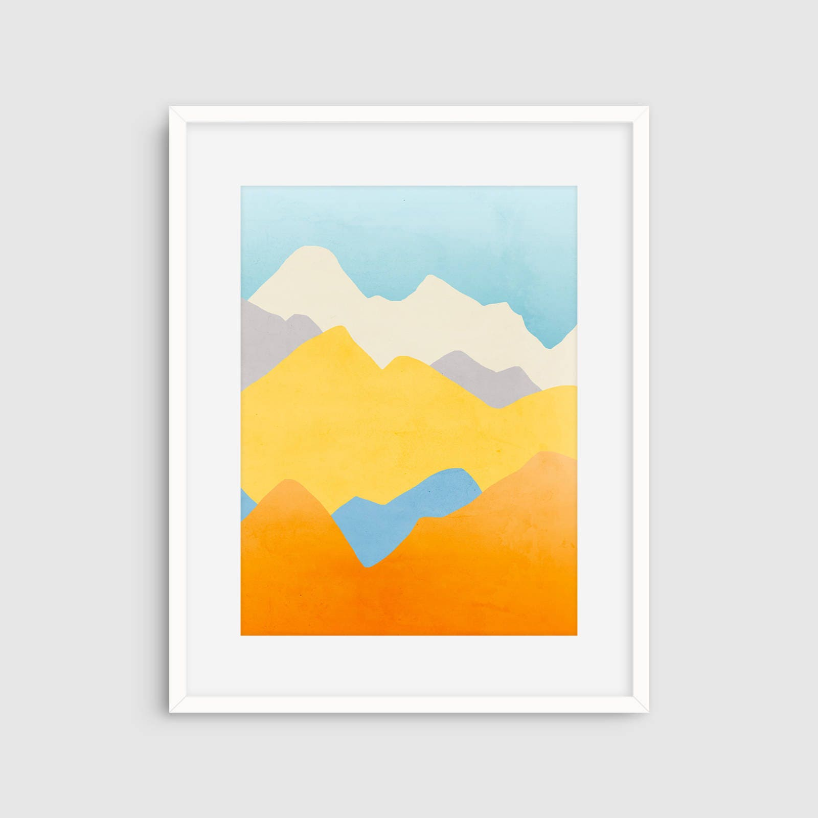 Colorful Abstract Wall Art Mountain Art Large Art Print