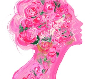 Garden Within You, print from original gouache fashion illustration by Jessica Durrant