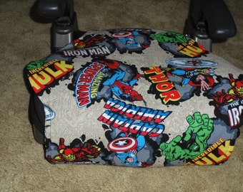 Marvel character print  toddler booster seat cover--booster seat not included