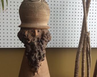 Artisan Stoneware Figure Decanter