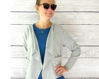 Gray jacket jacket, great jacket in cotton with pockets