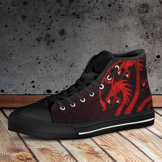 Targaryen Trainers Sneakers amp; Shoes sizes Canvas Black Men's Custom Hightop Shoes Of Women Thrones Collector Game vPEFEw