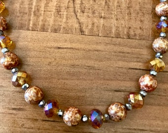 Earth Tones Beaded Necklace