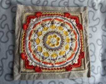 "Crochet Cushion cover ""Sophies Garden"" 40 x 40 cm"