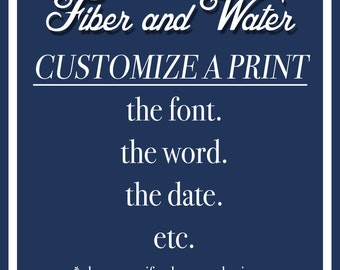 Customize a Print. Add this to your order.