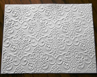 LACY BROCADE Embossed Card Stock Panels Perfect for Scrapbooking and Card Making - Set of 12