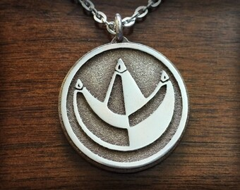 Mighty Morphin Power Rangers Green Ranger Dragon Emblem 3D Printed Stainless Steel Pendant and Keychain