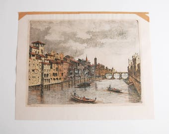 Marianne L. Almasy Aquatint Etching Print Signed Numbered Mariae