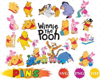 Winnie the Pooh svg,dxf,png/Winnie the Pooh clipart for Design,Print,Silhouette, Cricut